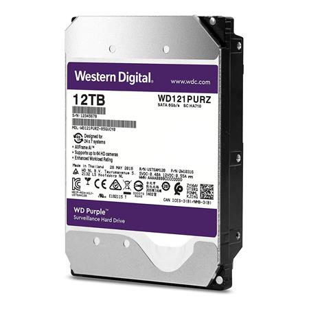 DISCO RIGIDO 12TERA WESTERN DIGITAL PURPLE 256MB SATA III