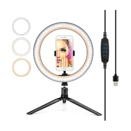 ARO DE LUZ LED DOOKU PY-26D KIT STUDIO RING LIGHT 26CMTS