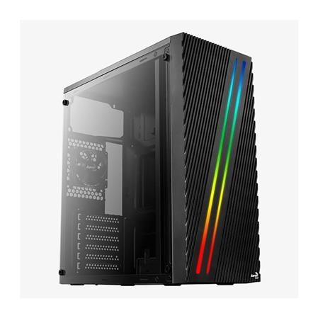 GABINETE ATX AEROCOOL STREAK RGB LED PANEL ACRILICO 1 COOLER 80MM