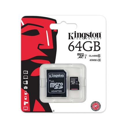 TARJETA DE MEMORIA MICROSD 64GB KINGSTON SDXC CLASS 10