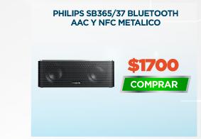 PHILIPS SB365/37 BLUETOOTH AAC Y NFC METALICO