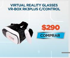 VIRTUAL REALITY GLASSES VR-BOX RK3PLUS CON CONTROL